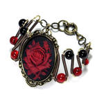 Red Rose Bracelet by TheWizardsVault
