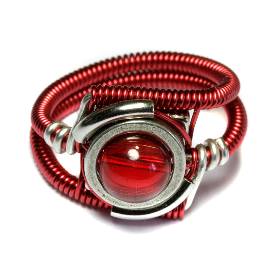 red rings silver sterling ring elle agate