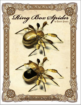 Art Deco Steampunk Ring Box Spider