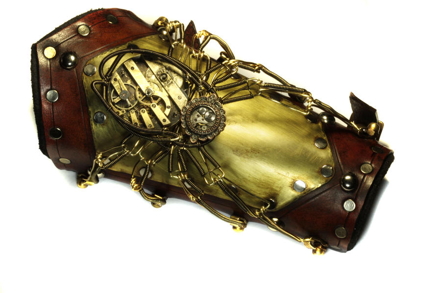 Steampunk Spider Bracer by CatherinetteRings