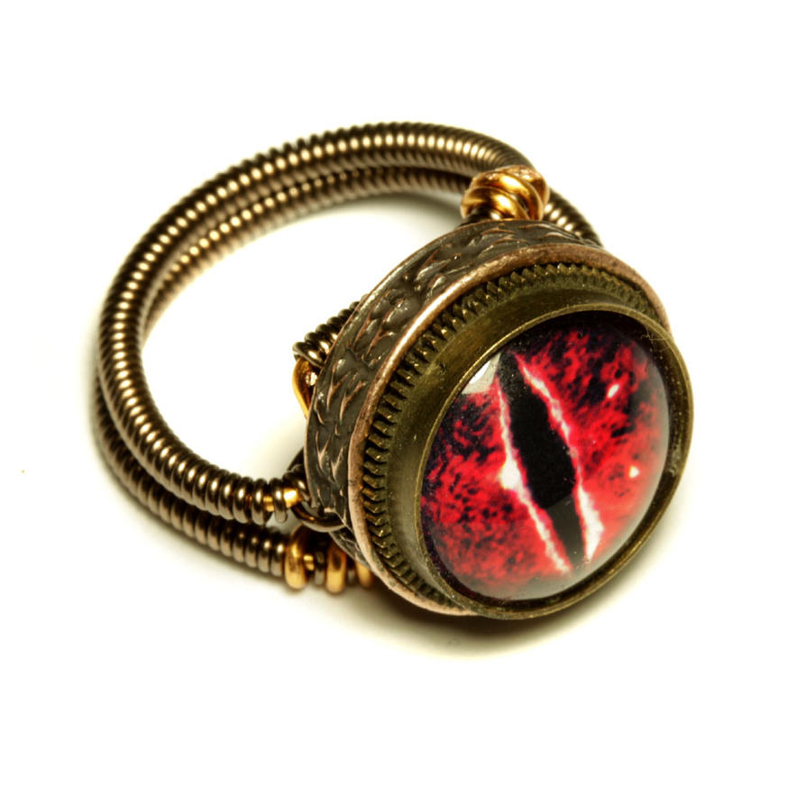 ring silver eye on litori zircon red by witk rings deviantart evil art