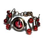 Steampunk Red Evil Dragon Eye Bracelet