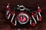 Cyberpunk Evil Red Dragon Eye Bracelet