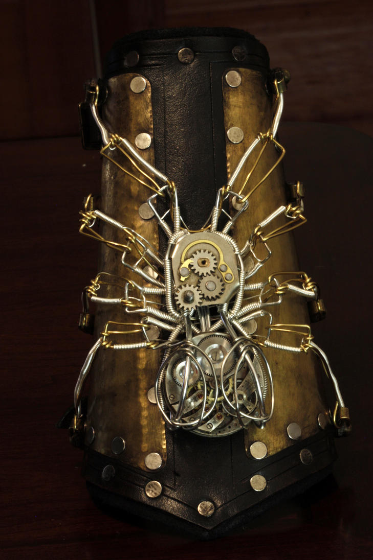 Steampunk Spider bracer No.3 by CatherinetteRings