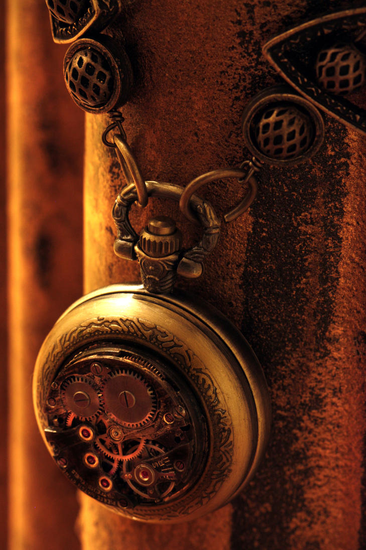 Steampunk Pocket Watch Necklace by CatherinetteRings