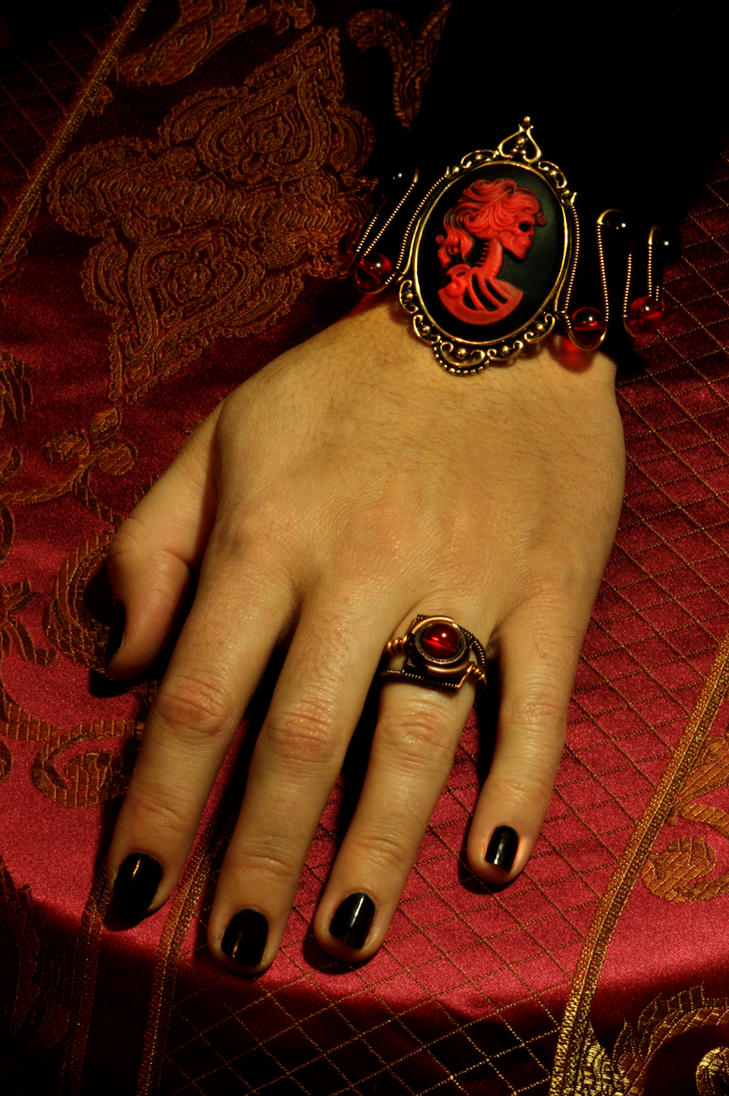 Steampunk Goth Jewelry Set by CatherinetteRings
