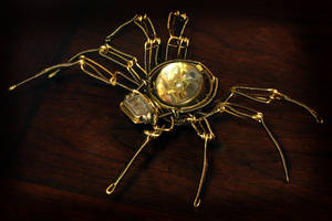 Steampunk Mechanical Watch Spider Sculpture