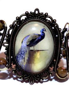 Neo Victorian Jewelry - Bracelet - Peacock Cameo