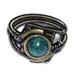 Steampunk Jewelry - Ring - Azurite