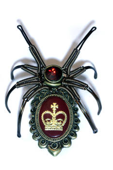 Steampunk Spider Lapel pin Sculpture