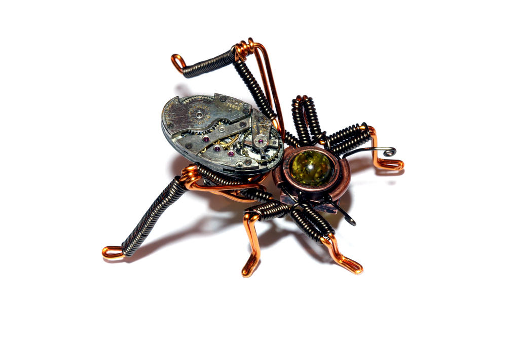 Steampunk Cricket by CatherinetteRings