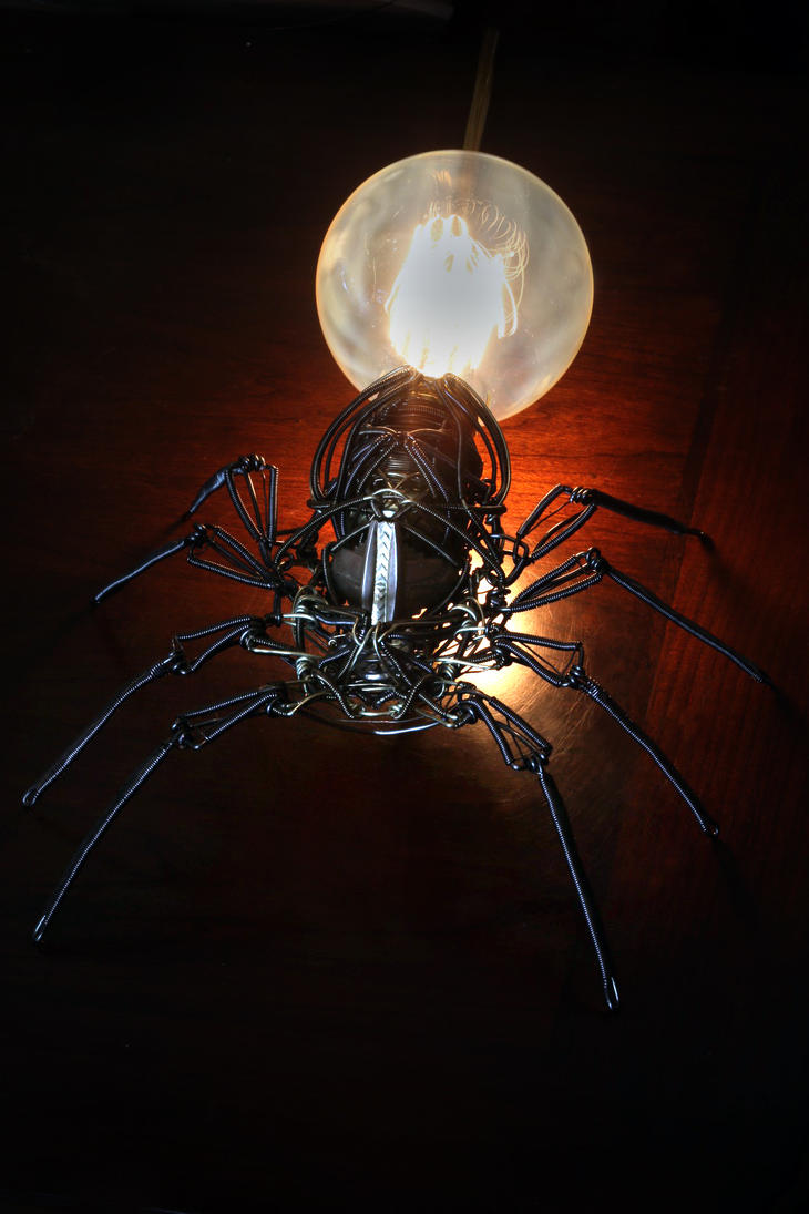 Steampunk spider lamp by catherinetterings on deviantart for What is a spider lamp