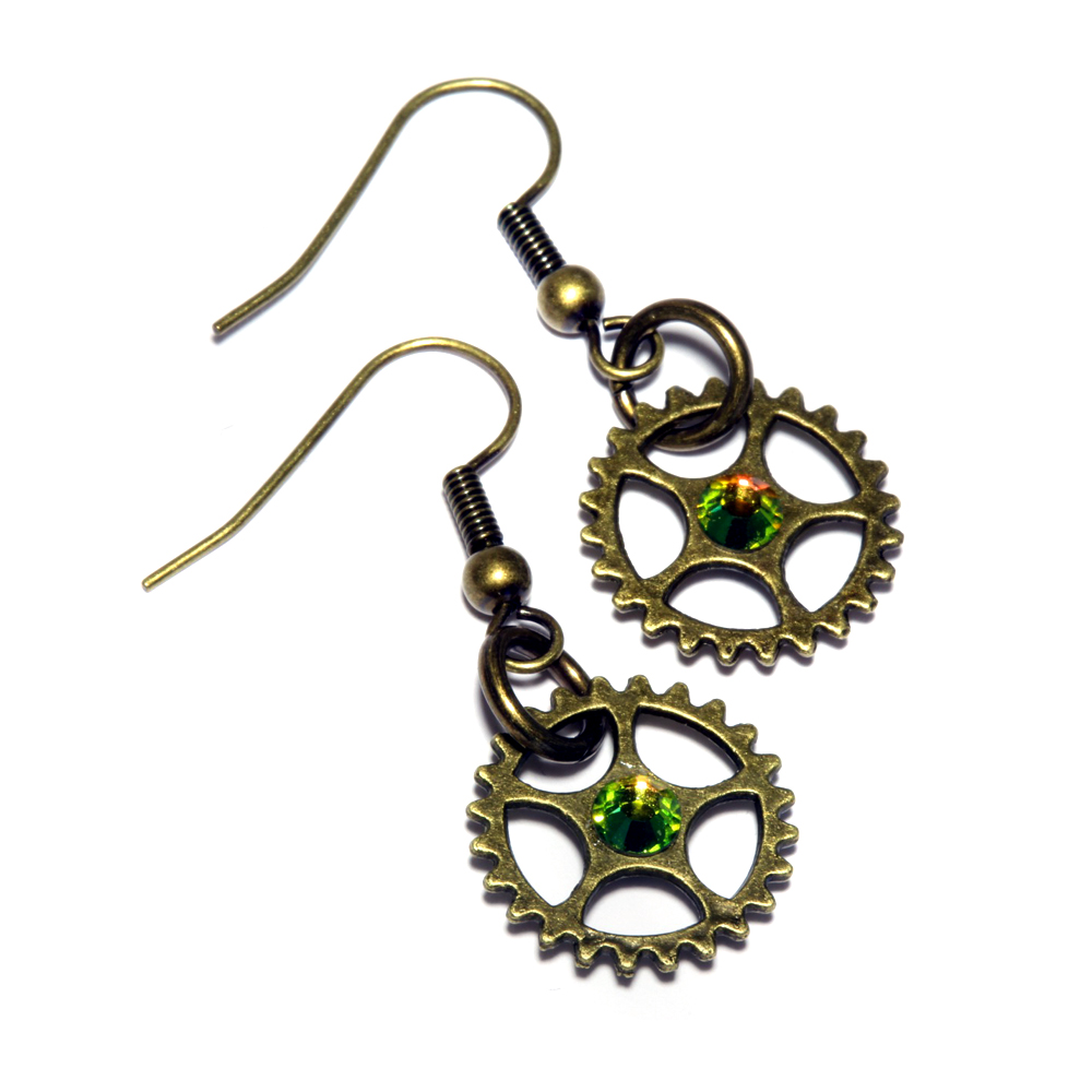 Steampunk Earrings by CatherinetteRings