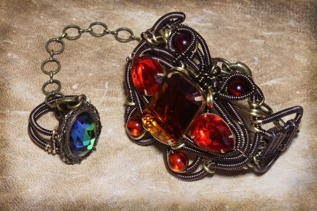 Fire Bracelet and Ice Ring by CatherinetteRings