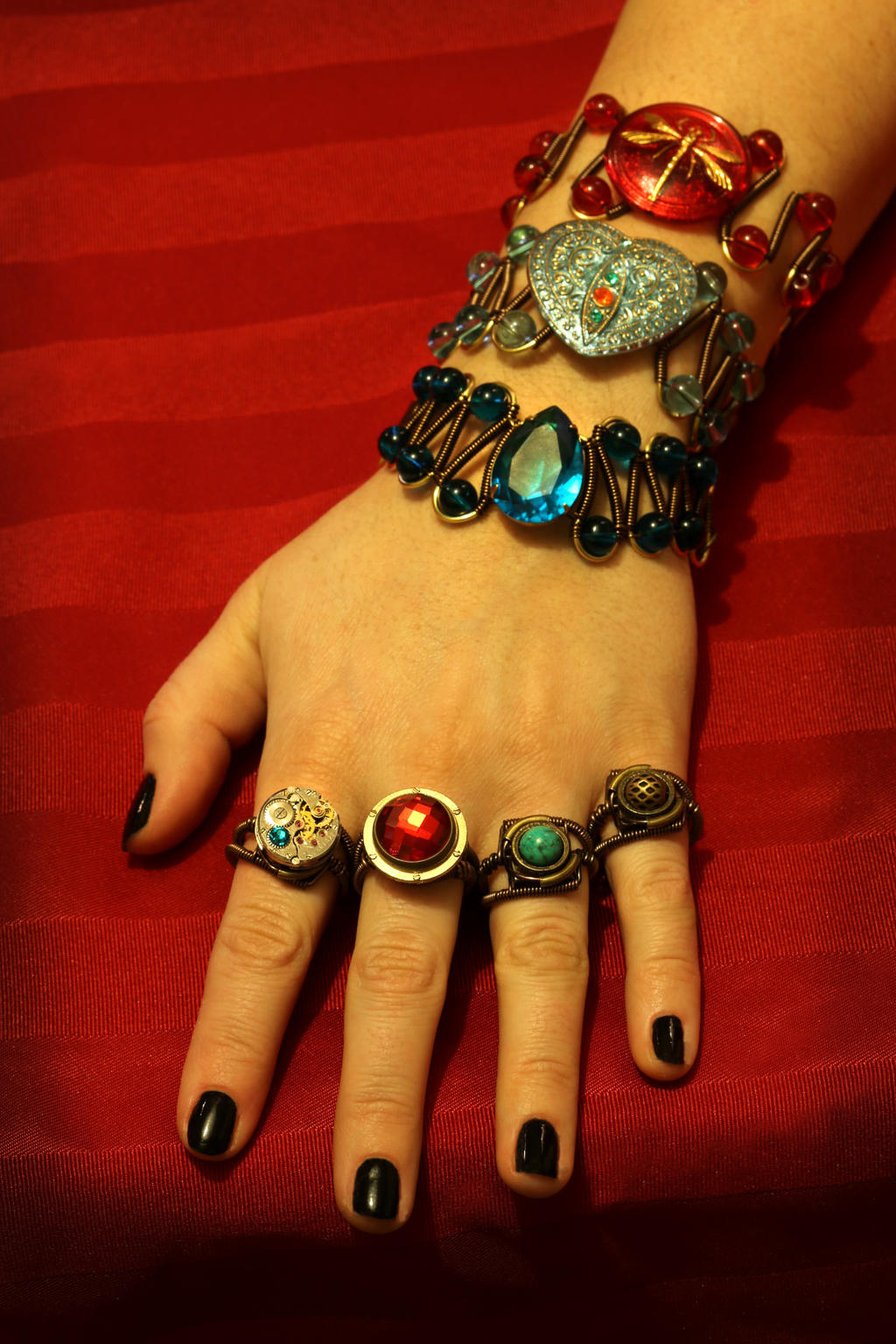Steampunk-tastic Jewelry by CatherinetteRings