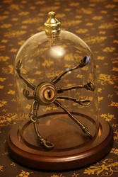 Little Steampunk Robot in Glass Dome by CatherinetteRings