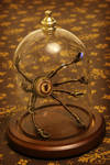 Little Steampunk Robot in Glass Dome