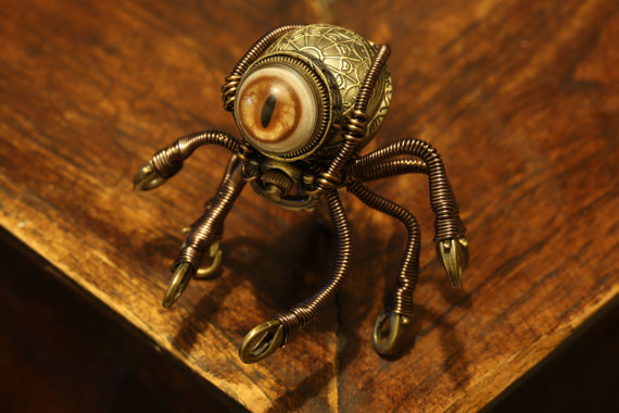 Little Steampunk Octopus Robot by CatherinetteRings