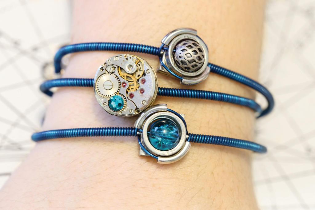 Cybersteam Aqua bracelets by CatherinetteRings