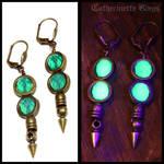 Uranium glass earrings