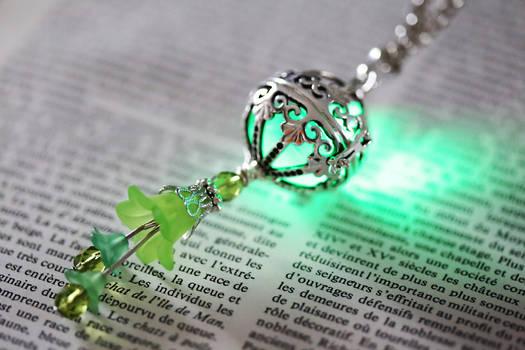 Fairy Punk Glowing Green orb Pendant