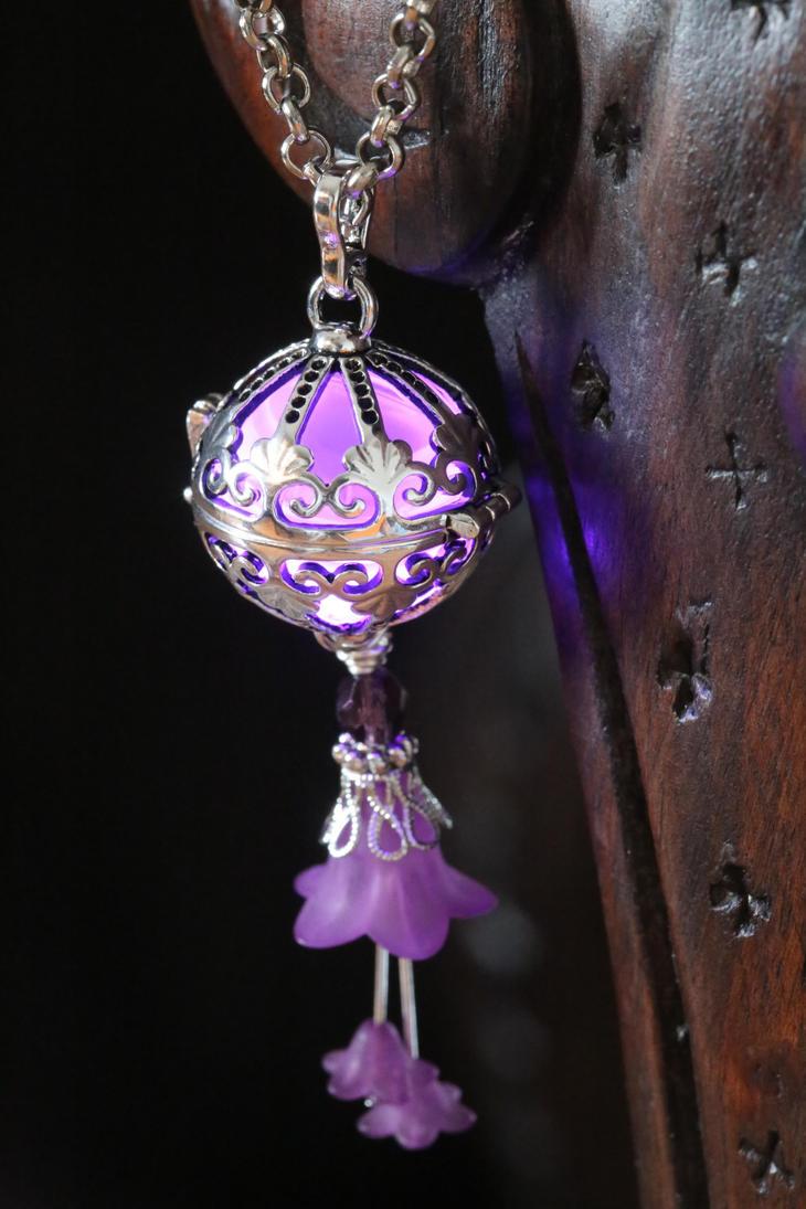 Fairy Punk Glowing Purple orb Pendant by CatherinetteRings