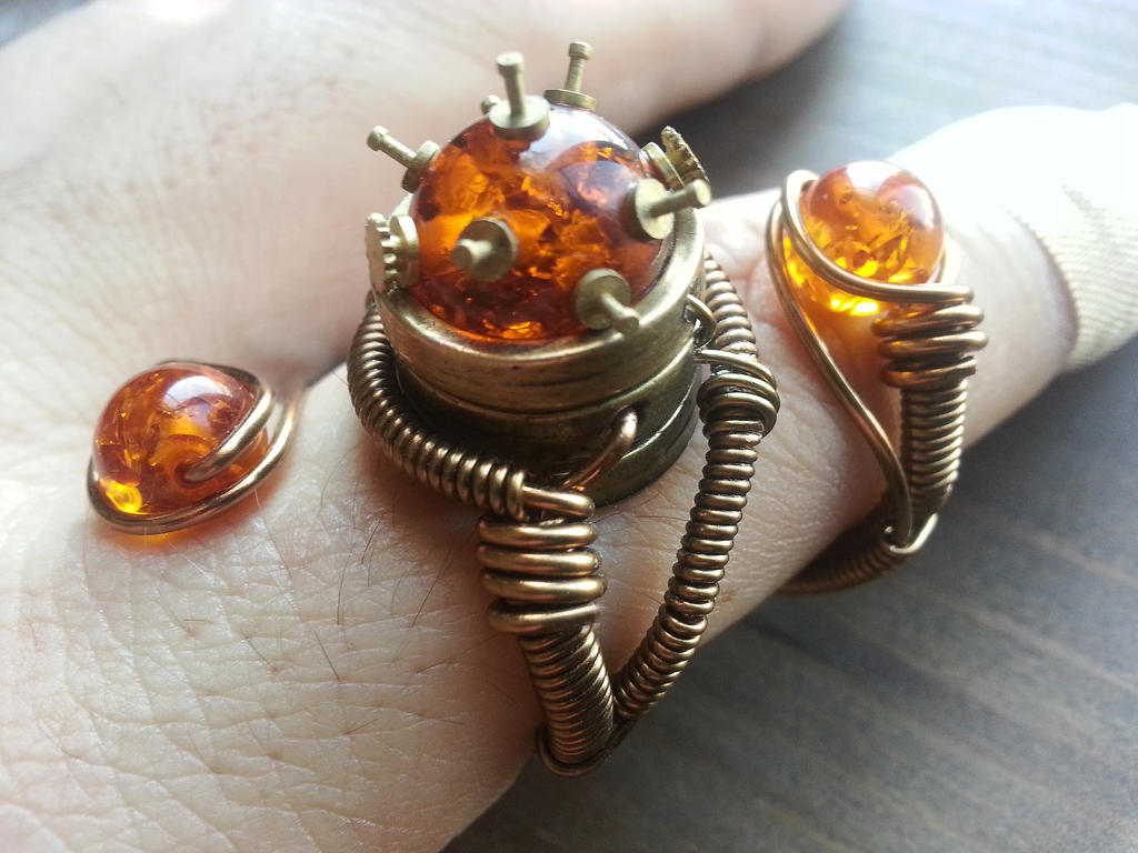 New Adjustable Steampunk Ring design