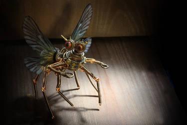 Steampunk insect Feywild Modron robot sculpture by TheWizardsVault