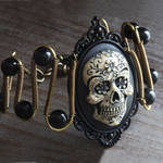 Black sugar skull bracelet