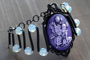 Purple Fairy Cameo bracelet by CatherinetteRings