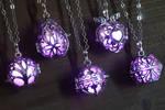 Glowing Magical Pendant Purple