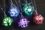 Colorful glowing magical amulet.