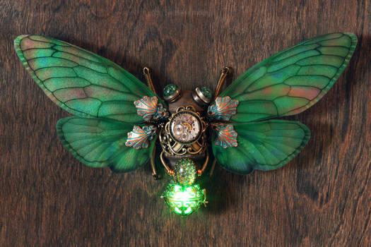 Steampunk cicada sculpture