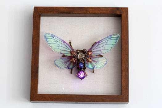 Steampunk Cicada Sculpture by CatherinetteRings