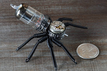 Steampunk Spider Black