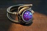 Purple Opal Steampunk Ring