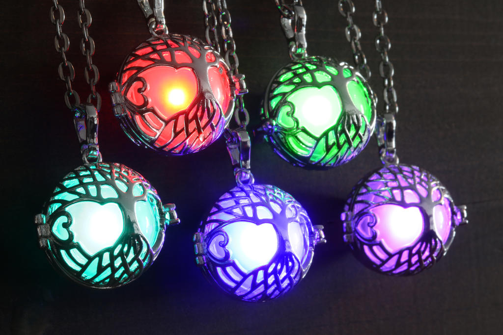 Glowing Celtic Tree Necklaces by CatherinetteRings
