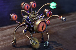 Steampunk beholder robot #3 by CatherinetteRings