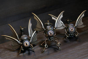3 little Steampunk sculpture i made. by CatherinetteRings
