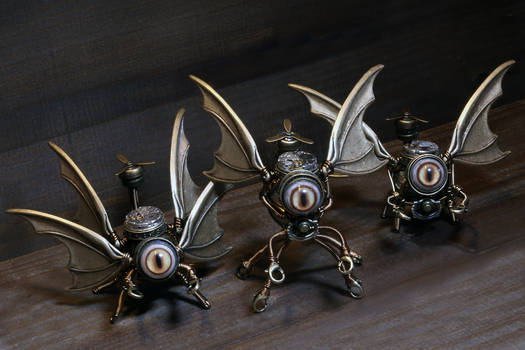 3 little Steampunk sculpture i made.