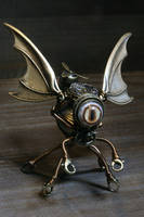 Steampunk Cthulhu Sculpture by CatherinetteRings