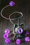 Steampunk Caticorn with purple eye