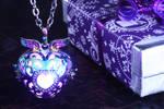 Magical glowing heart pendant