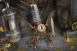 Steampunk Modron Sculpture by CatherinetteRings