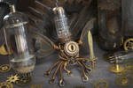 Steampunk Modron Sculpture