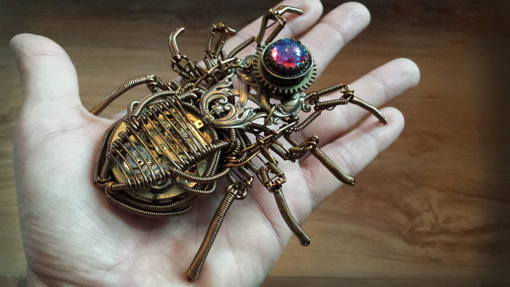 Steampunk Spider Sculpture by CatherinetteRings