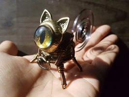 Cat Robot Golden Copper Eye