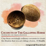 Coconuts of the Galloping Horse
