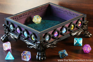The Wizard's Vault - Galaxy Dice Rolling Tray by TheWizardsVault