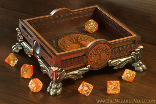 Autumnal Tree Dice Tray by The Wizard's Vault